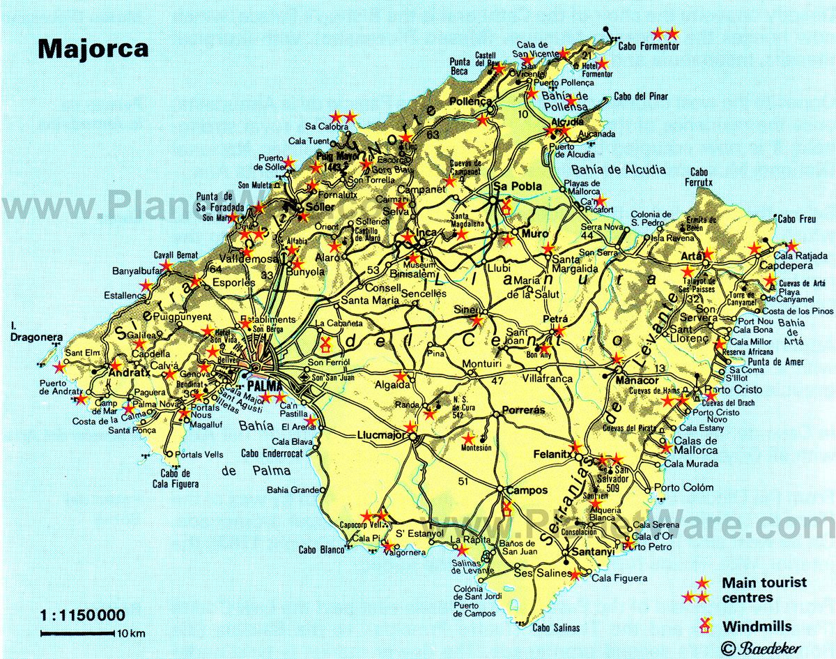 Пальма де майорка на карте мира