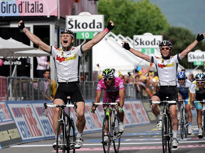 Cavendish and Greipel in their awkward High Road years.
