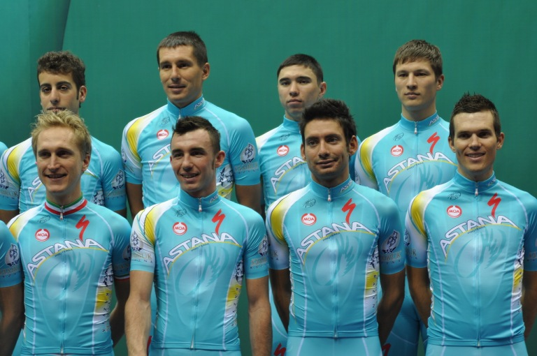 Note that from a distance you can't actually read the 'Astana' bit of the logo.