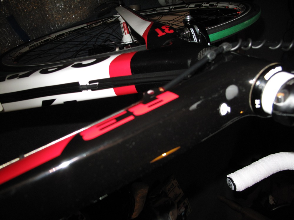 One of the two cables visible on the bike, which is only really noticeable to the rider if at all.