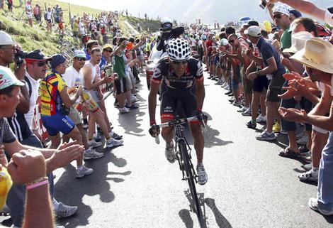 Carlos Sastre animates the centenary Giro for Cervelo.