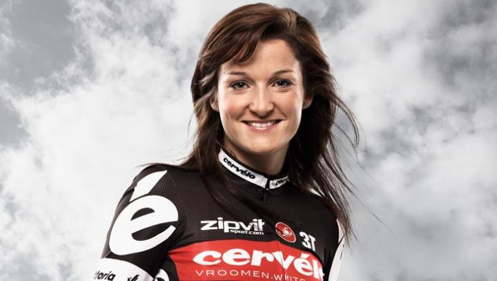 Cervelo also had a women's team, which is a great excuse for pictures of Lizzie Armistead. Yes, yes, I'm a pig.
