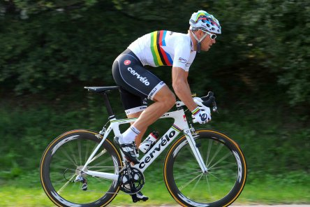 Cervelo won the Worlds with Hushivd, then set themselves on the path to ruin by getting the colours on the bike in the wrong order and then joining Garmin.