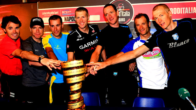 Top riders for the Giro d'Italia 2013