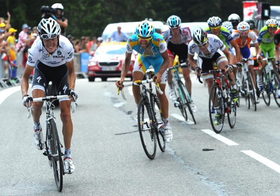The dastardly Schleck puts his plan into action