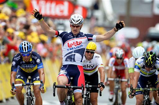 Andre Greipel was the last man to complete the feat in 2012.