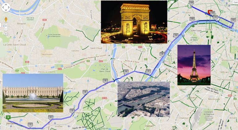 A 15mile TT from the gardens of Versailles to the Champs Elysees