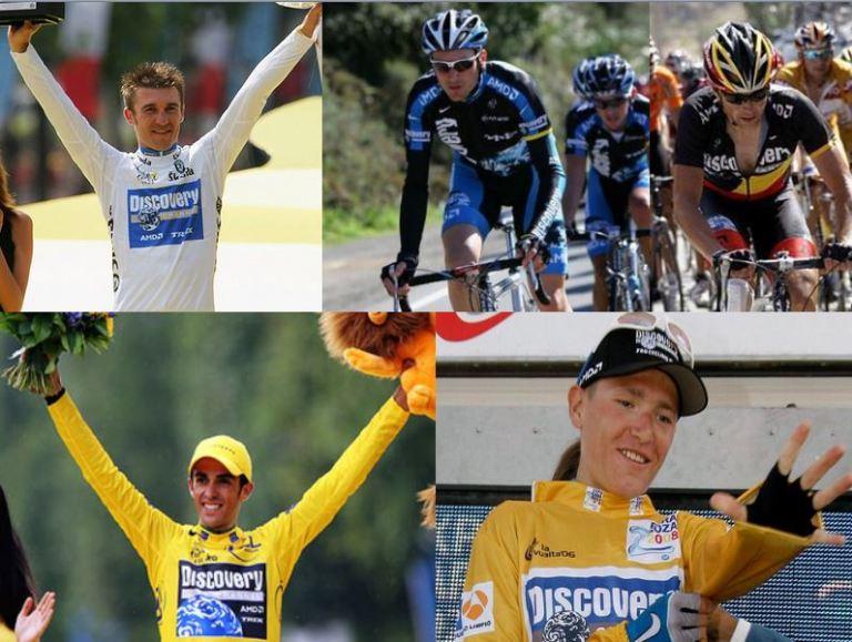 Discovery's foreign stars: Popovych, Basso, Devolder, Contador, Brajkovic
