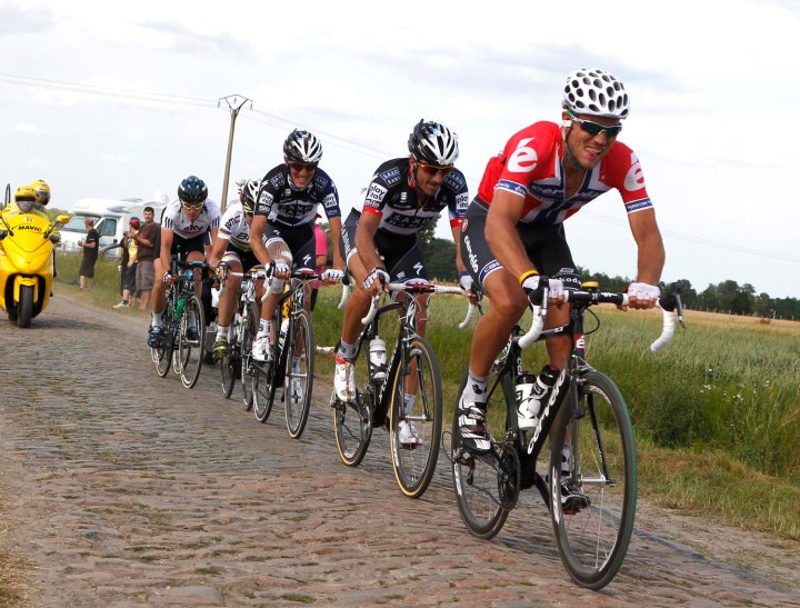 One of the more impressive breakaway groups at the Tour