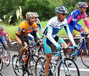 ALBERTO CONTADOR AND EGOI MARTINEZ ON STAGE TWELVE OF THE 2008 TOUR OF SPAIN