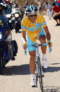 ALBERTO CONTADOR ATTACKS ON STAGE FOURTEEN OF THE 2008 TOUR OF SPAIN