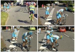 Combo shows Kazakhstan's Alexandre Vinok