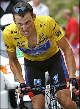 Lance Armstrong - not enough suffering damn it!