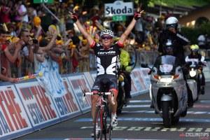 Bologna - Italy - wielrennen - cycling - radsport - cyclisme - 14e etappe - 100 jaar Giro di Italia - Campi Bisenzio > Bologna  - Simon Gerrans (Australie / Team Cervélo) - foto Cor Vos ©2009