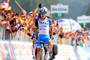 Giro d'Italia 2012 - 8a tappa Sulmona Lago Laceno 229 km - carovana - 13-05-2012 - Domenico Pozzovivo (Colnago - CSF) - BettiniPhoto©2012