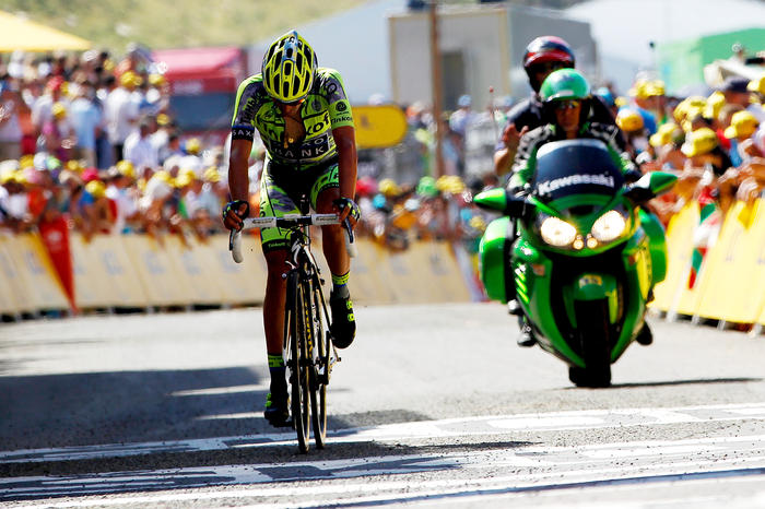 Contador watched The Giro/Tour double ride away on stage 10